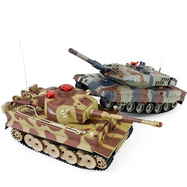 Танковый бой Huan Qi Tiger vs Abrams HQ558N в масштабе 1/24 27Mhz и 40Mhz